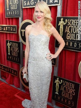 Naomi Watts in a stunning Marchesa gown at the 2013 Sag awards.