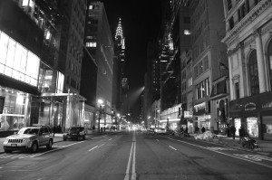 Empty 42nd Street