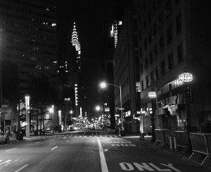 Empty Lexington Ave.