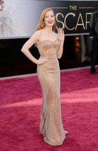 Jessica Chastain on the Red Carpet -- Source: Yahoo!