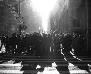 Black and White Pedestrians