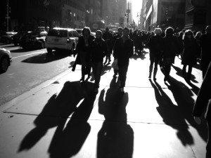 White 5th Avenue Pedestrians