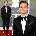 Justin Timberlake in Tom Ford at the 2013 Grammy awards