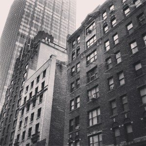 Black and White Snowy Facades