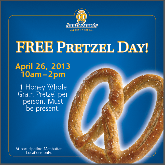 Credit to: Auntie Anne's