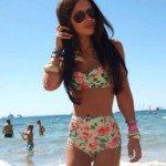 Floral High Waist Bikini