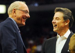 Only Time will tell if Jim Boeheim (Left) and Rick Pitino (Right) will meet in the national championship Monday April 8th