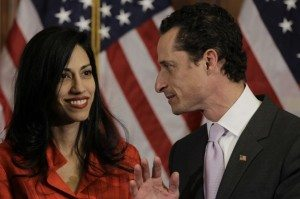 Anthony Weiner & wife Huma Abedin