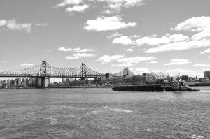 Barge on East River