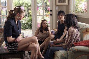 From L to R: Jess McCallan, Alyssa Milano, Yunjin Kim and Rochelle Aytes (Source: ABC)