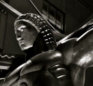 Atlas Statue Detail