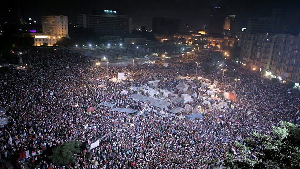 Tahrir Square during the demonstrations