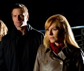 (L to R) Josh Holloway and Marg Helgenberger (Source: CBS)