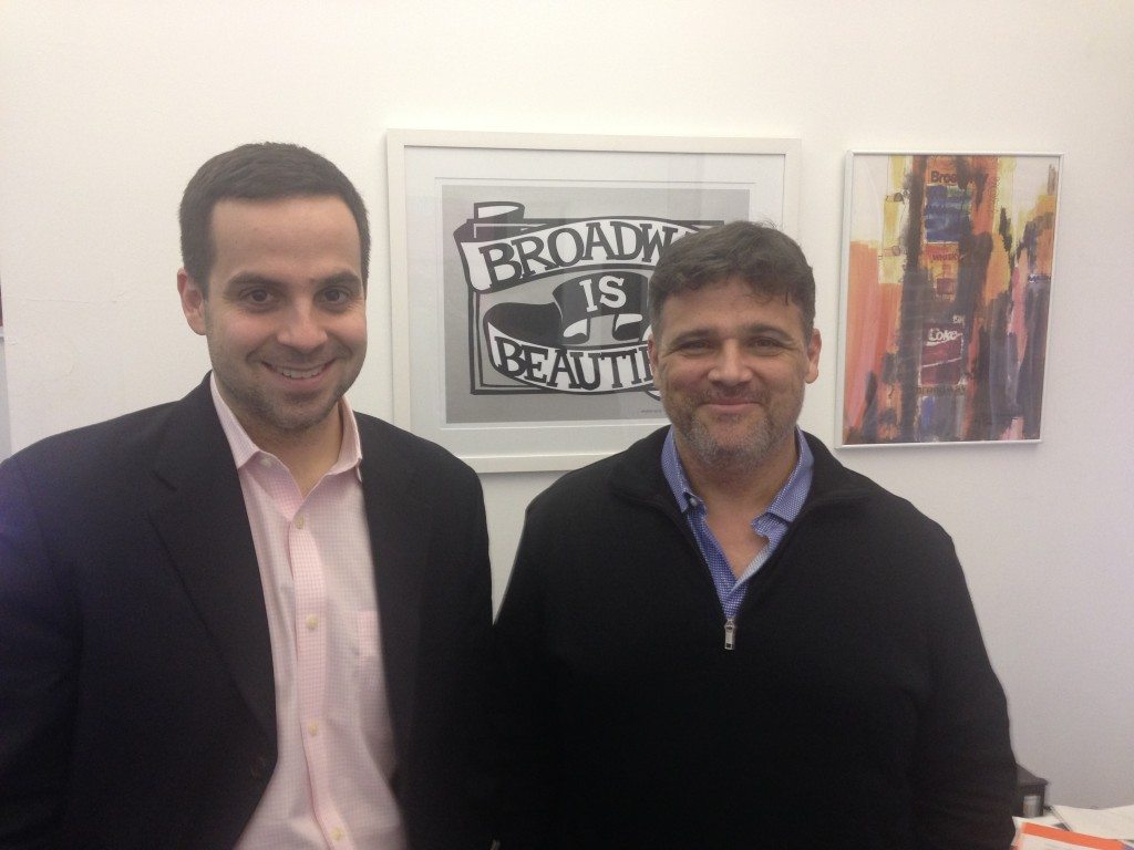 Damian Bazadona, Founder and CEO, Situation Interactive Media (Left)  and Jim McCarthy, founder and CEO  of Goldstar (Right).   Photo courtesy of O&M.