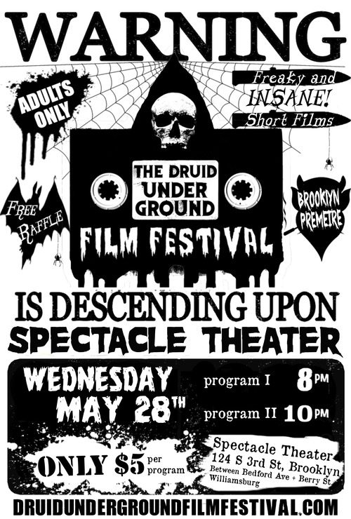Poster for May 28th DUFF show at Spectacle Theatre