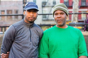 Anthony (L) and Half marathon finisher John (R) from Back On My Feet's Uptown team. Photo courtesy of Back on My Feet.