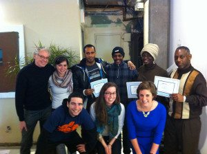 Back on My Feet's Uptown group celebrates its graduates.  Photo courtesy of Back On My Feet.