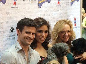 L-R Kyle Dean Massey, Ciara Renee, and Rachel Bay Jones with Barnum. Photo courtesy of Ryan Leeds