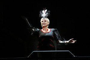 CADY HUFFMAN as Manuela in REVOLUTION IN THE ELBOW OF RAGNAR AGNARSSON FURNITURE PAINTER . Photos: Carol Rosegg