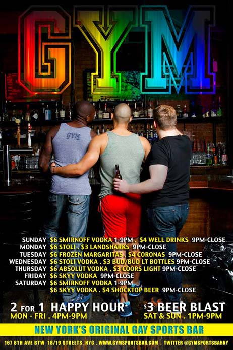 Gym Sportsbar, Manhattan Digest, gay bars