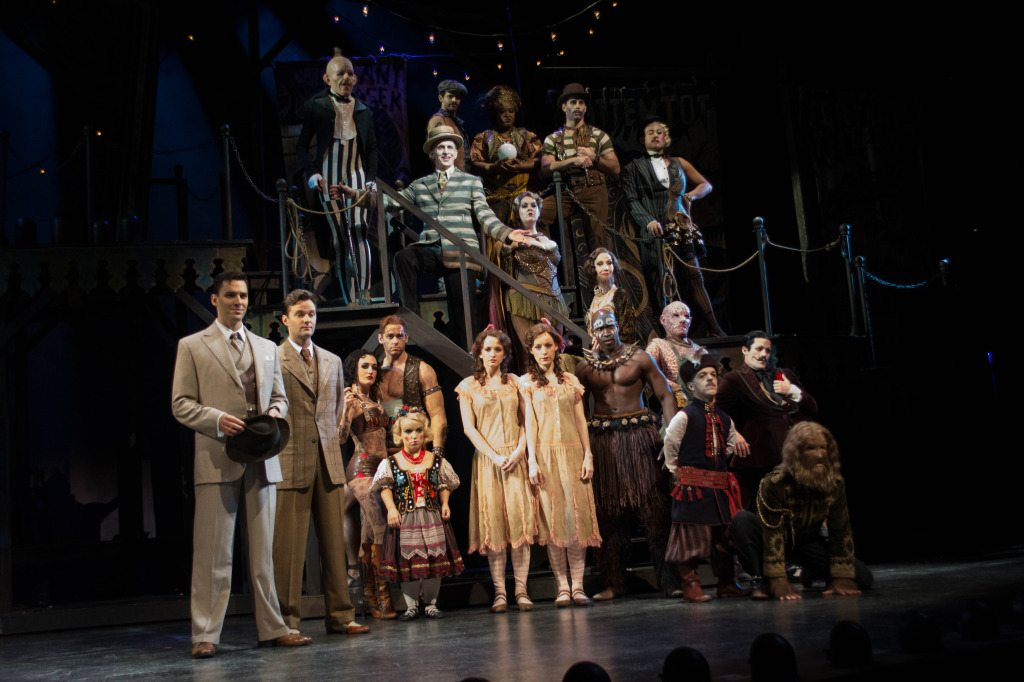 The cast of SIDE SHOW. Photo courtesy of Andrew Blupe.