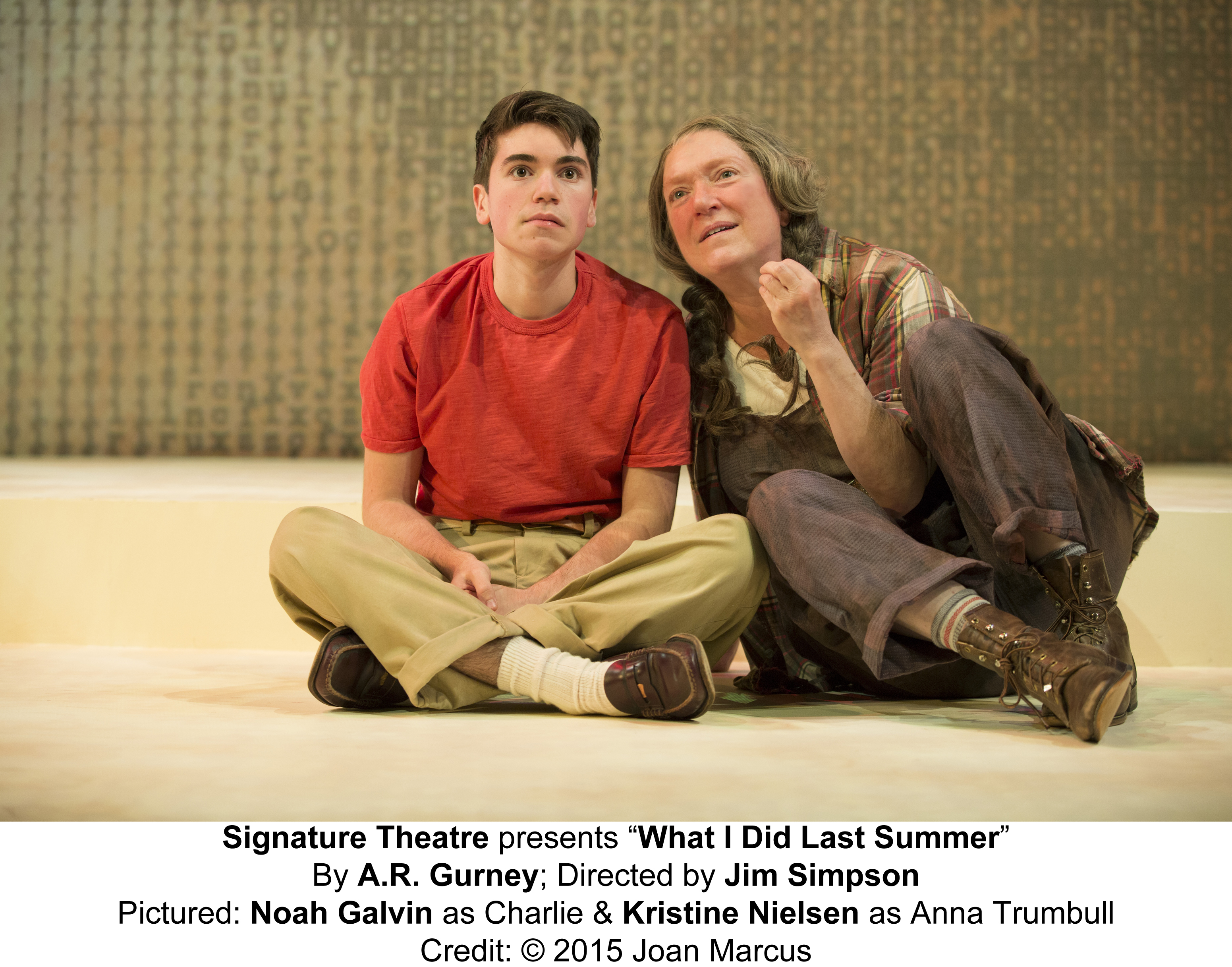 What I Did Last Summer The Pershing Square Signature Center/Irene Diamond Stage Carolyn McCormick and Tony nominee Kristine Nielsen will star as Grace and Anna Trumbull, respectively, alongside Pico Alexander as Ted, Juliet Brett as Bonny, Noah Galvin as Charlie and Kate McGonigle as Elsie. Performances will begin on April 28 at the Irene Diamond Stage at the Pershing Square Signature Center off-Broadway.