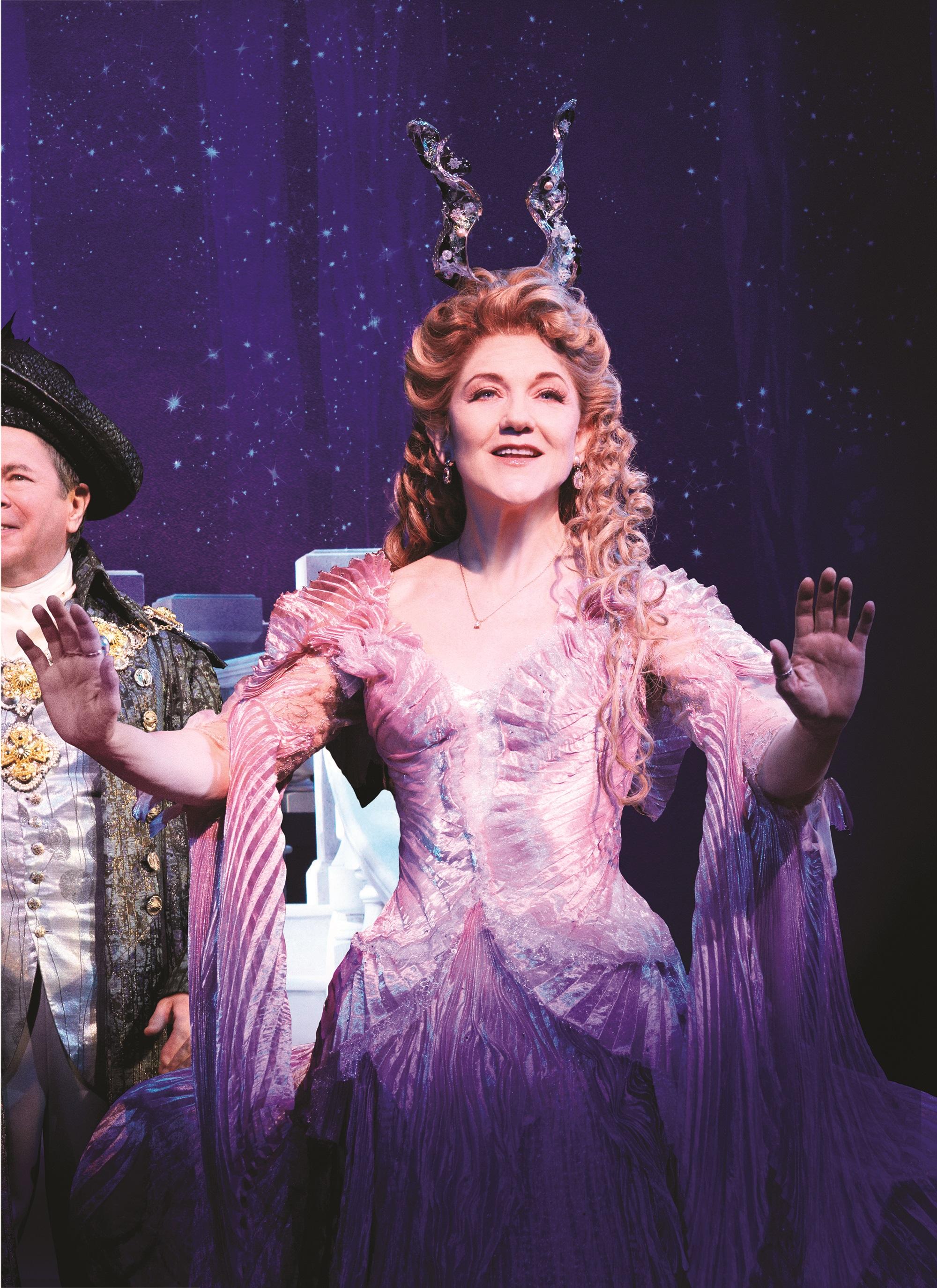 Victoria Clark in a Tony Award winning costume from Broadway's CINDERELLA. Photo courtesy of Carol Rosegg