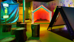Kinesthetic camping experience at the Museum of Sex