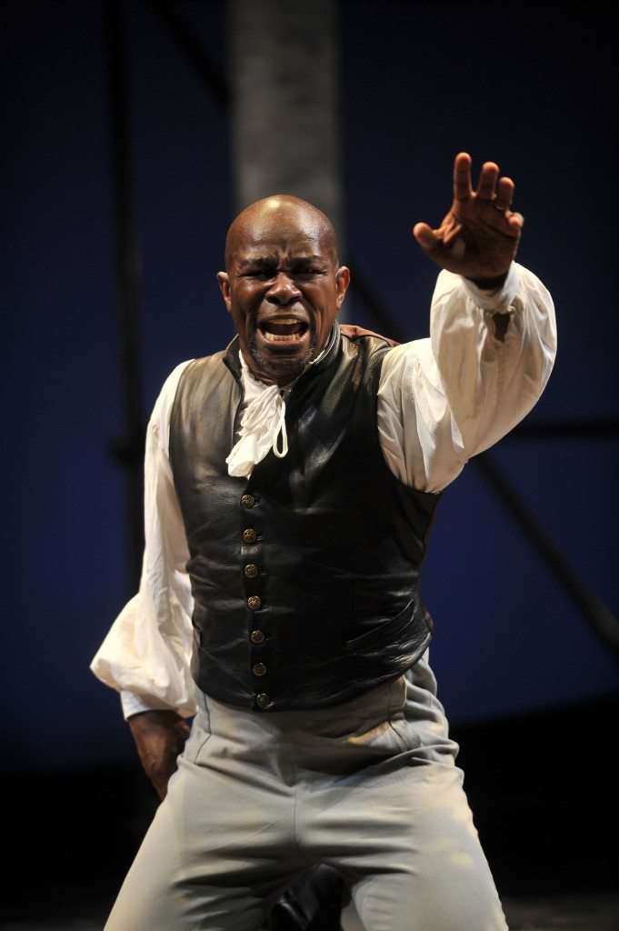 John Douglas Thompson in a 2008 Shakespeare and Company J production of OTHELLO. Photo by Kevin Sprague