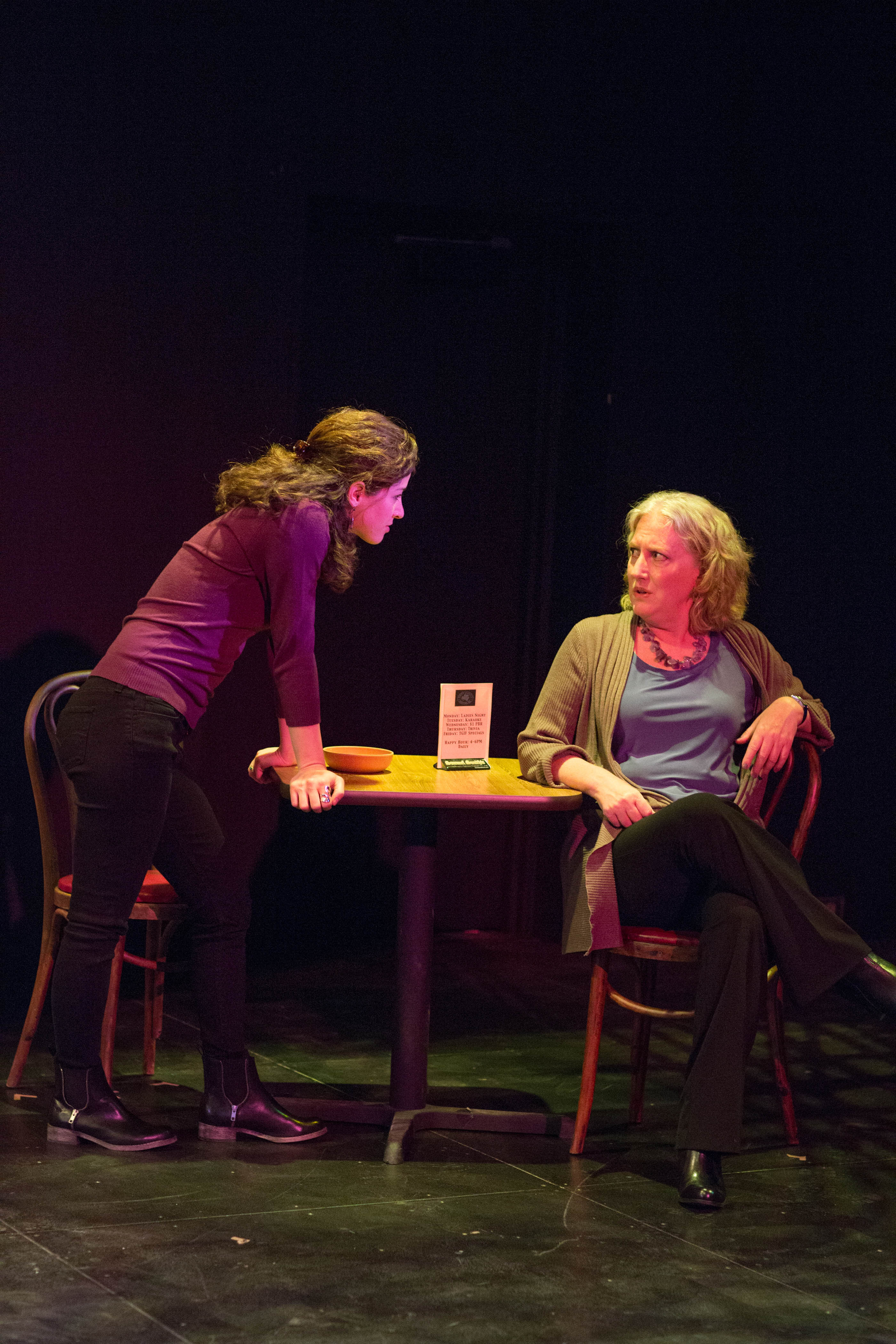 L-R: Bridget Saracino as Rachel and Tod Randolph as Zelda in THE HOW AND THE WHY.  Photo by John Dolan