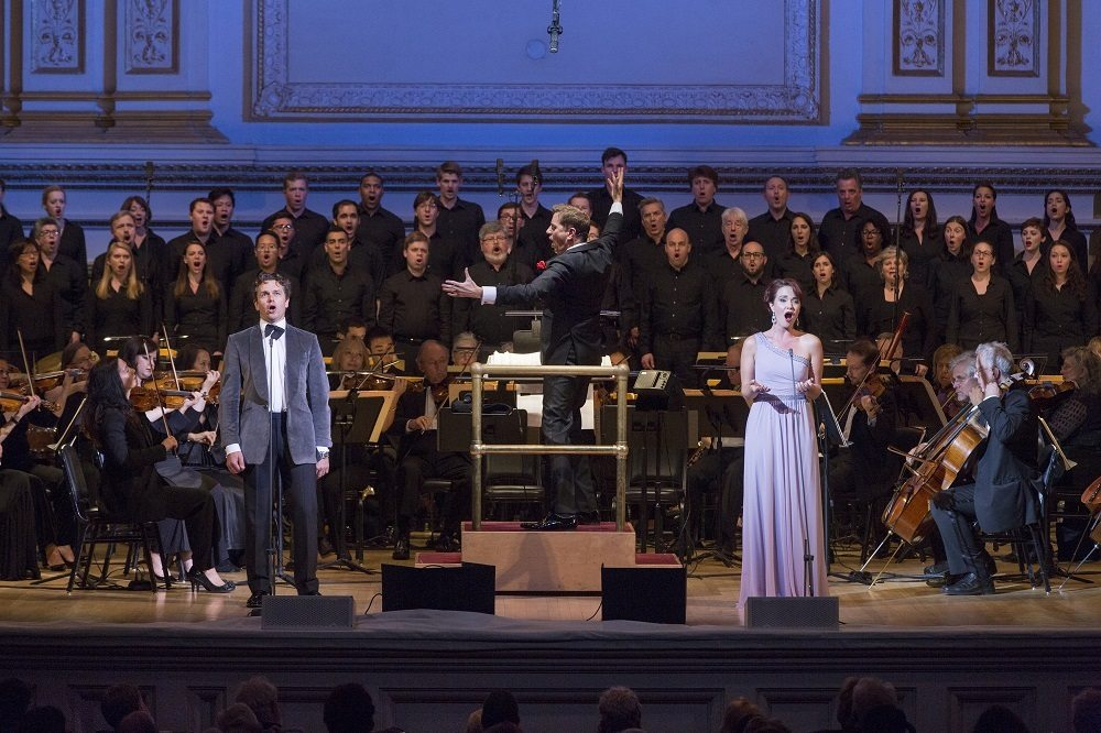 Photo:  The New York Pops My Favorite Things: The Songs of Rodgers and Hammerstein Steven Reineke, Music Director & Conductor Sierra Boggess, Guest Artist Julian Ovenden, Guest Artist Essential Voices USA Judith Clurman, Music Director & Conductor Concert photographed: Friday, October 9, 2015; 8:00 PM at Isaac Stern Auditorium at Carnegie Hall; Photograph: © 2015 Richard Termine  PHOTO CREDIT - Richard Termine