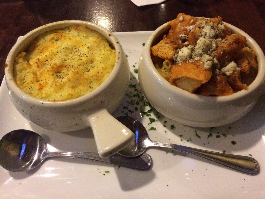 Emerald Loop Restaurant.Shepherd's Pie (Left) and Buffalo Bird Macaroni and Cheese. Photo courtesy of Ryan Leeds