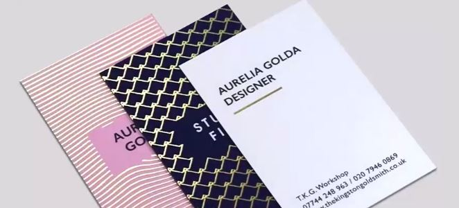 MOO Gold Foil Business Cards