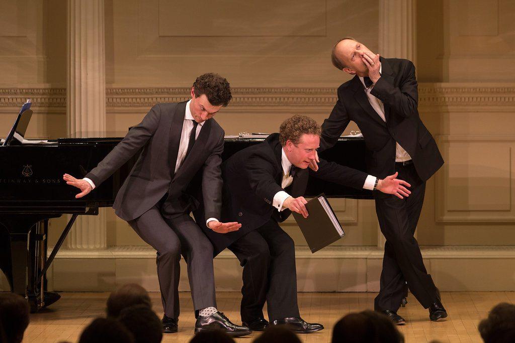 Bryce Pinkham, Hal Cazalet, and David Hyde Pierce. Photo by Karli Cadel.