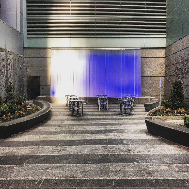 Ambient Lighting Waterfall, NYC, 2016
