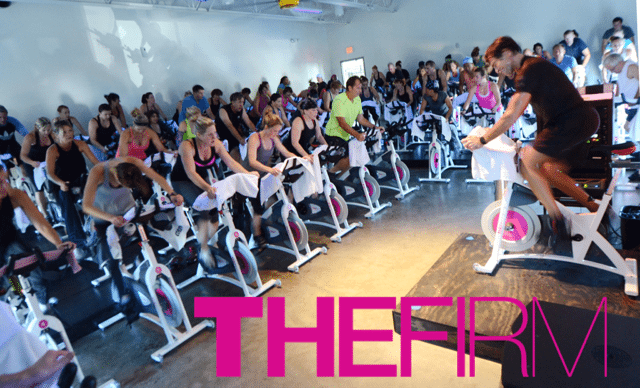 The Firm's Cycling class. Photo courtesy of www.thefirmmpls.com