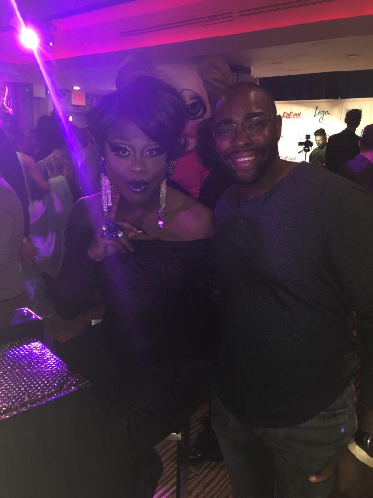 My buddy Chuck with Bob The Drag Queen. Credit: Ryan Shea