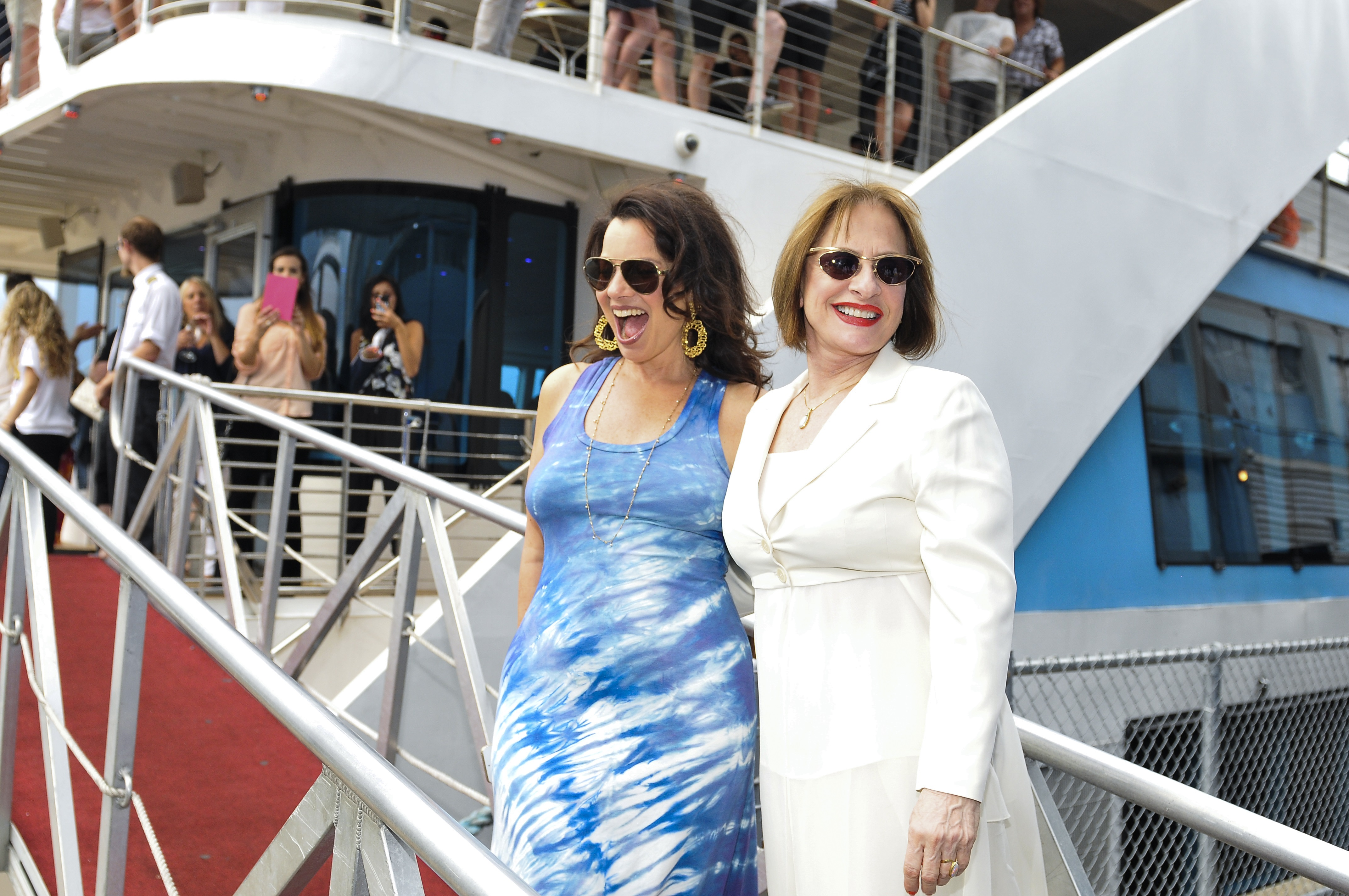 Fran Drescher (L) and Patti LuPone (R) at last year's cruise.