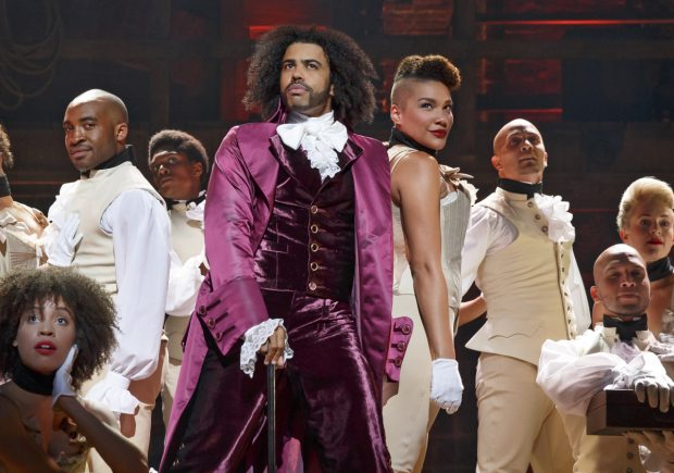 Daveed Diggs in HAMILTON. Photo by Joan Marcus.