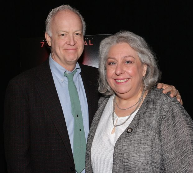 Reed Birney and Jayne Houdyshell. THE HUMANS. Photo by David Gordon