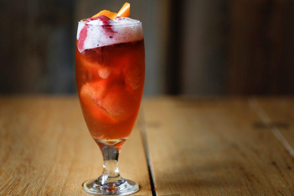 The Bittersweet Symphony: Beer Float, Pacific Northwest Raspberry Sorbet with Firestone Walker Easy Jack IPA