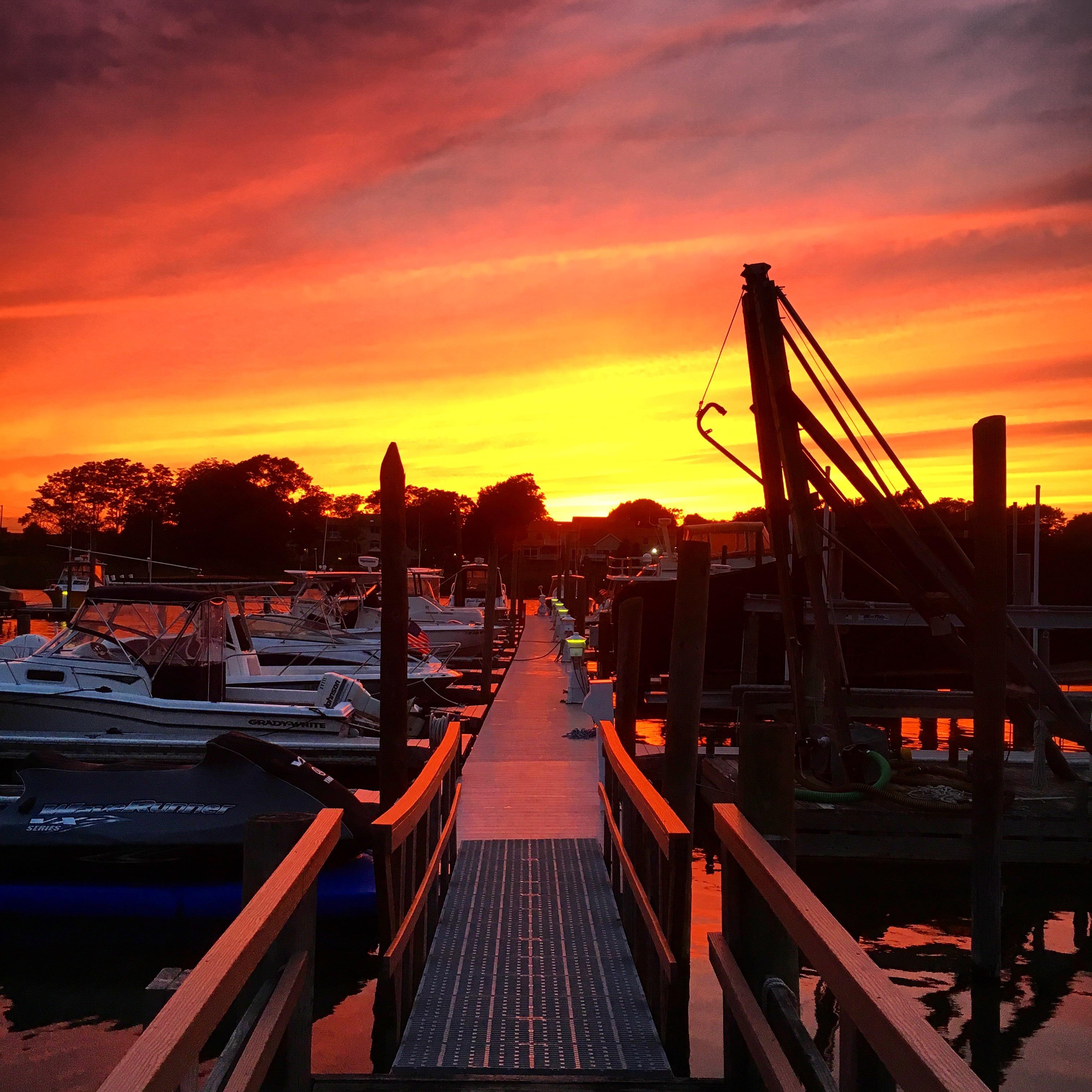 Sunset of Remsenberg Marina