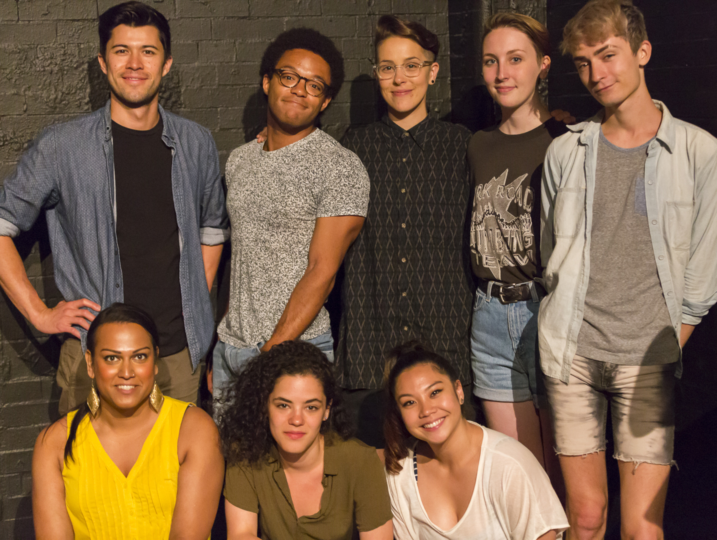The Cast of NORMATIVITY. Photo by Steve Riskind.