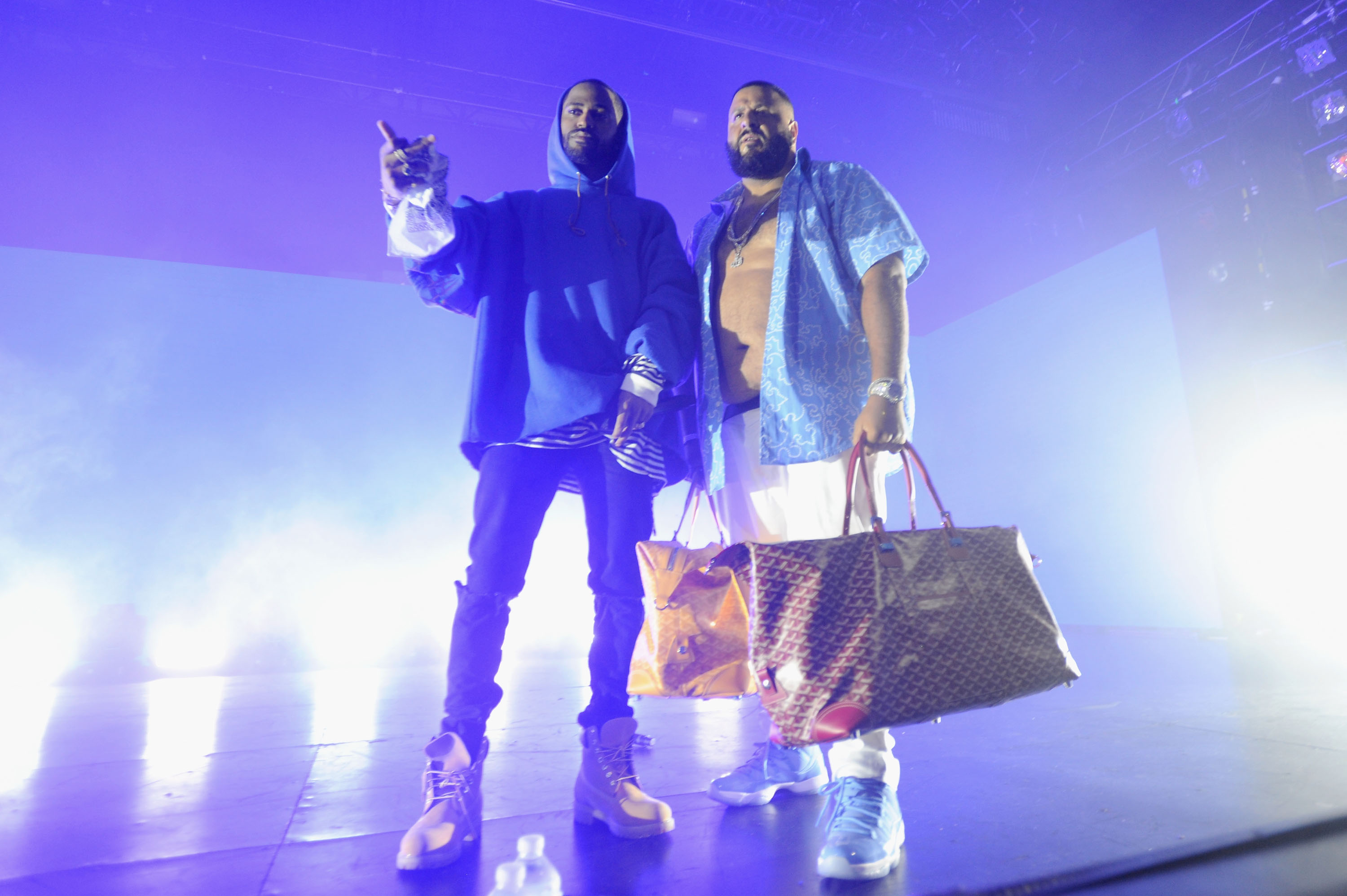 NEW YORK, NY - AUGUST 27: Big Sean and DJ Khaled perform on stage at the Bud Light Party Conventions at PlayStation Theater on August 27, 2016 in New York City. (Photo by Brad Barket/Getty Images for Bud Light)