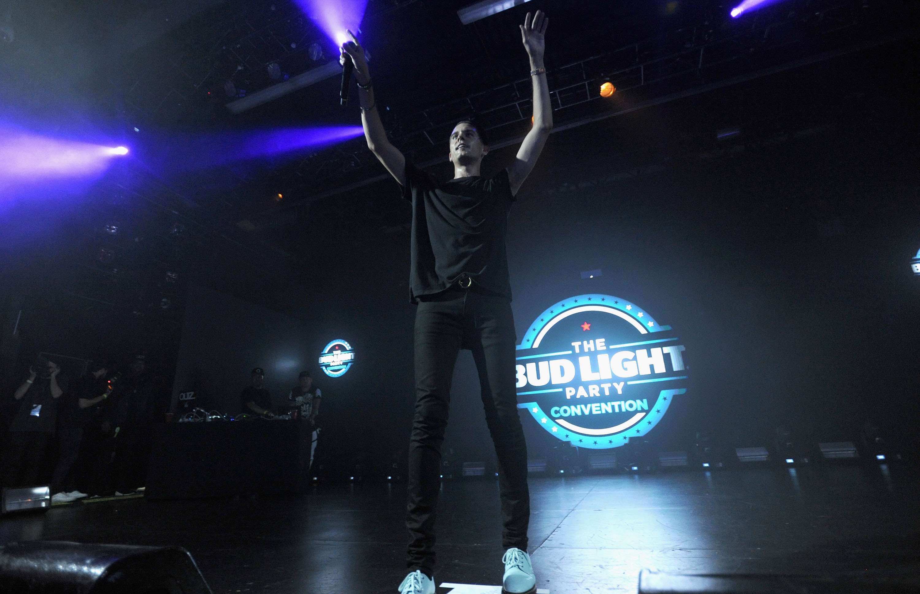 NEW YORK, NY - AUGUST 27: G-Eazy performs on stage at the Bud Light Party Conventions at PlayStation Theater on August 27, 2016 in New York City. (Photo by Brad Barket/Getty Images for Bud Light)