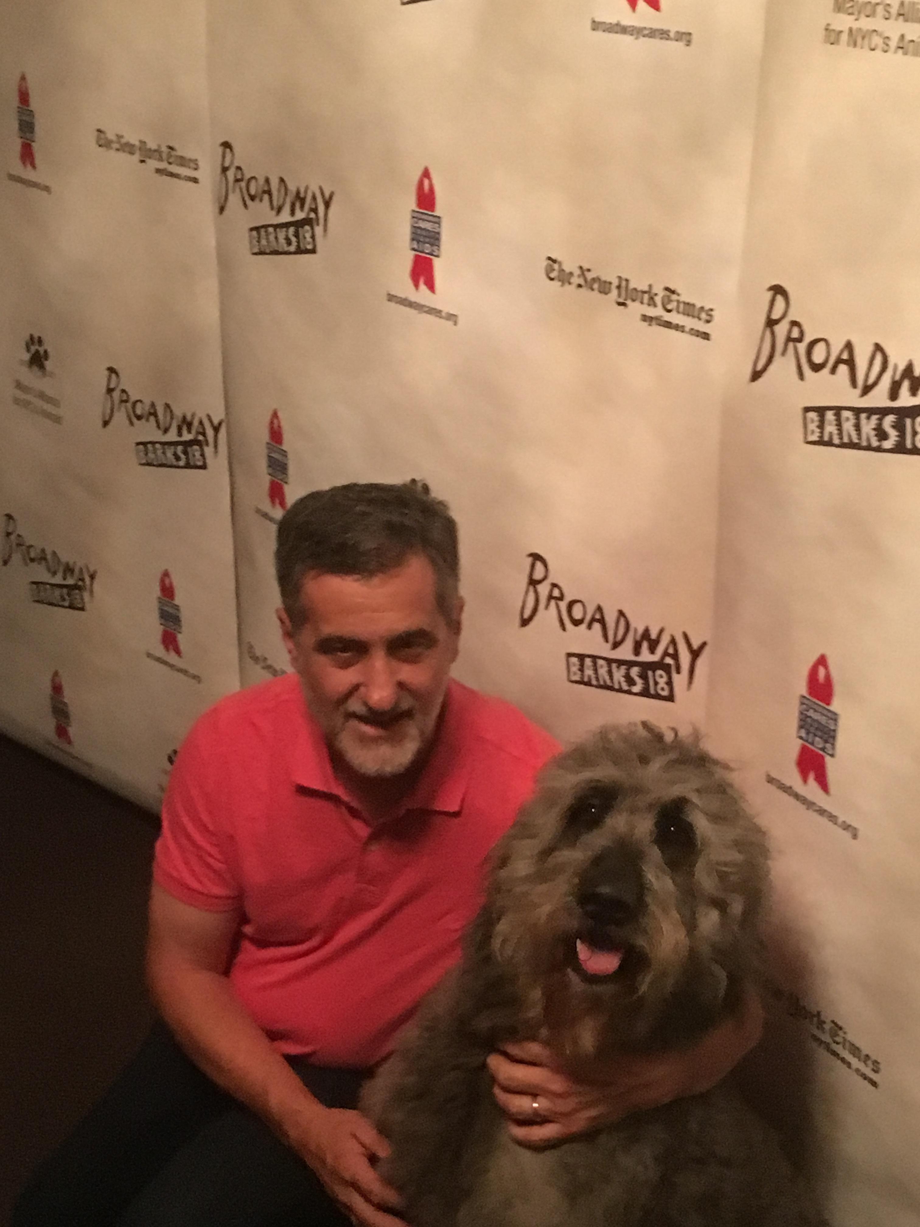 Bill Berloni and dog Bowdie. Photo by Ryan Leeds