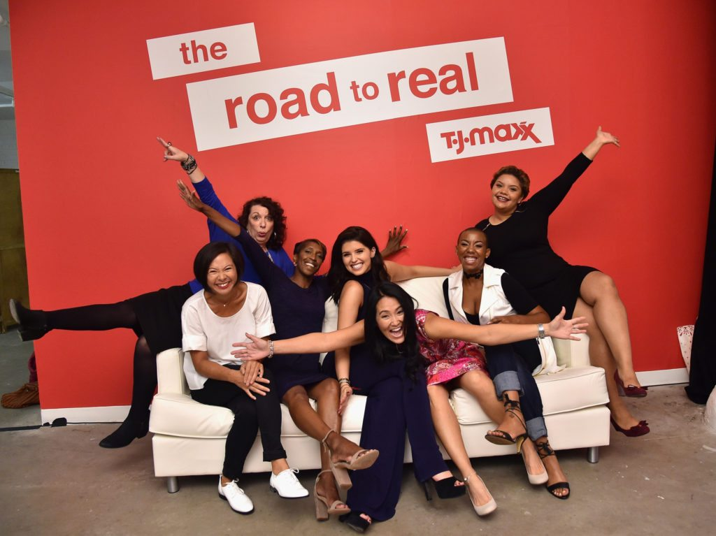 NEW YORK, NY - SEPTEMBER 27: Andrea Chu, Lee Rousseau, Annie Walters, Katherine Schwarzenegger, DebbyThompson, Zynani Nakhid and Yastany Astacio attend the T.J.Maxx Road to Real Gallery Exhibit in NYC, spotlighting inspirational women from across the country on September 27, 2016 in New York City. (Photo by Mike Coppola/Getty Images for TJ Maxx)
