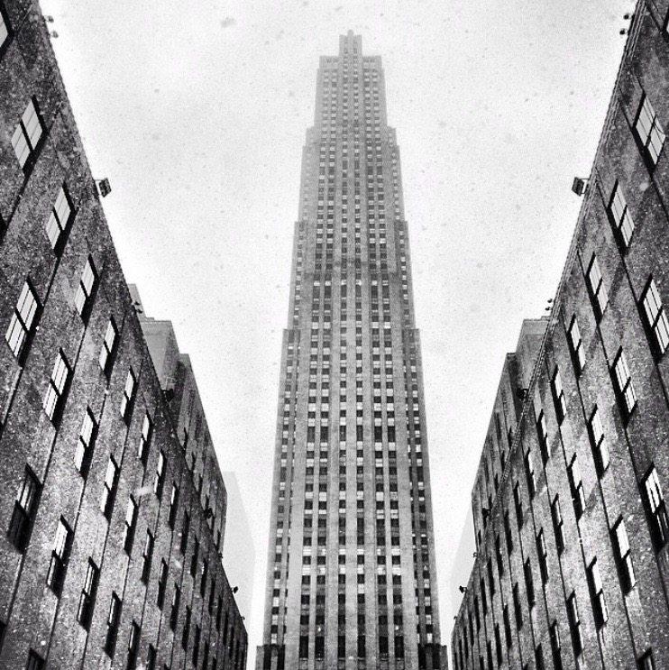 Rockefeller Center in the Snow