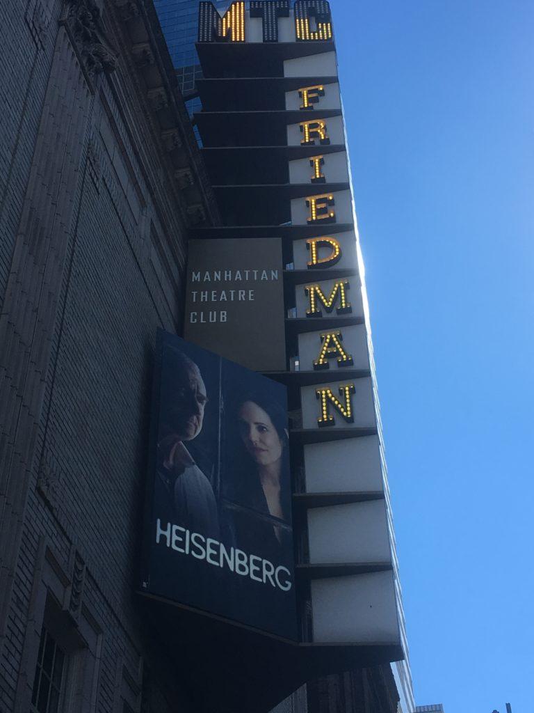 HEISENBERG w/ Mary Louise-Parker @ Samuel Friedman.