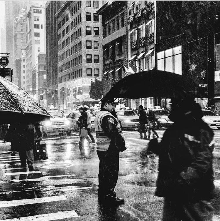 NYPD in the Snow